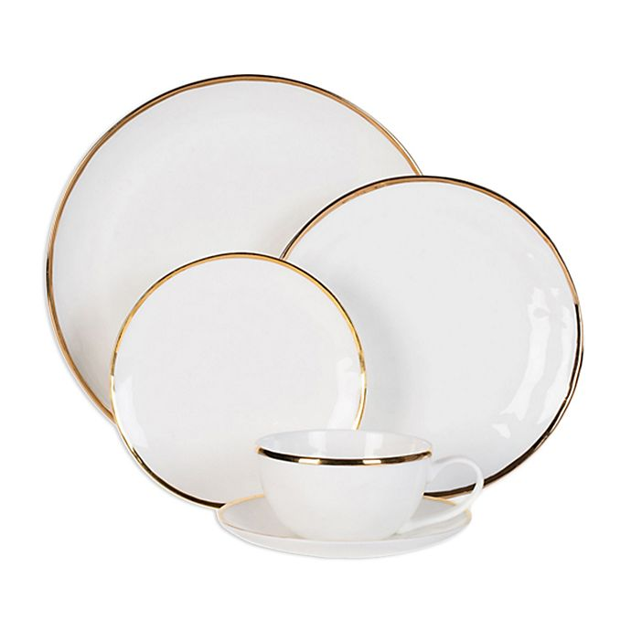 Alternate image 1 for Olivia & Oliver™ Harper Organic Shape Gold Dinnerware Collection