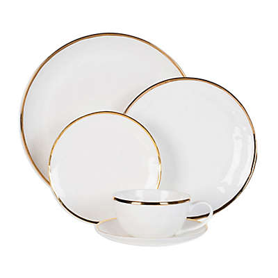 Olivia & Oliver Harper Organic Shape Gold Dinnerware Collection