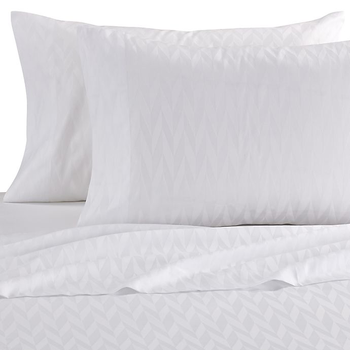 Alternate image 1 for Frette At Home Porto Venere Standard Pillowcase in White