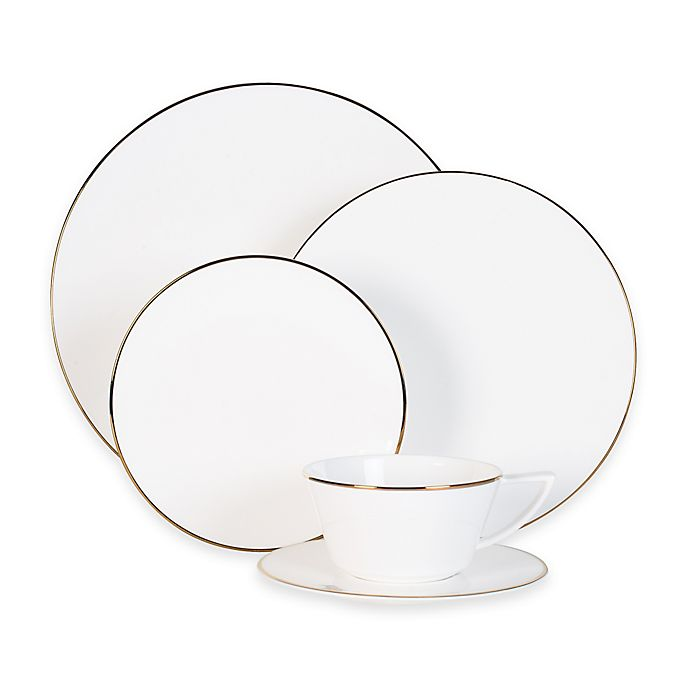 Alternate image 1 for Olivia & Oliver Madison Gold Dinnerware Collection