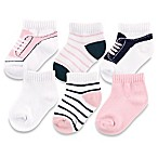 BabyVision® Yoga Sprout™ Size 0-6M 6-Pack No Show Socks in Light Pink
