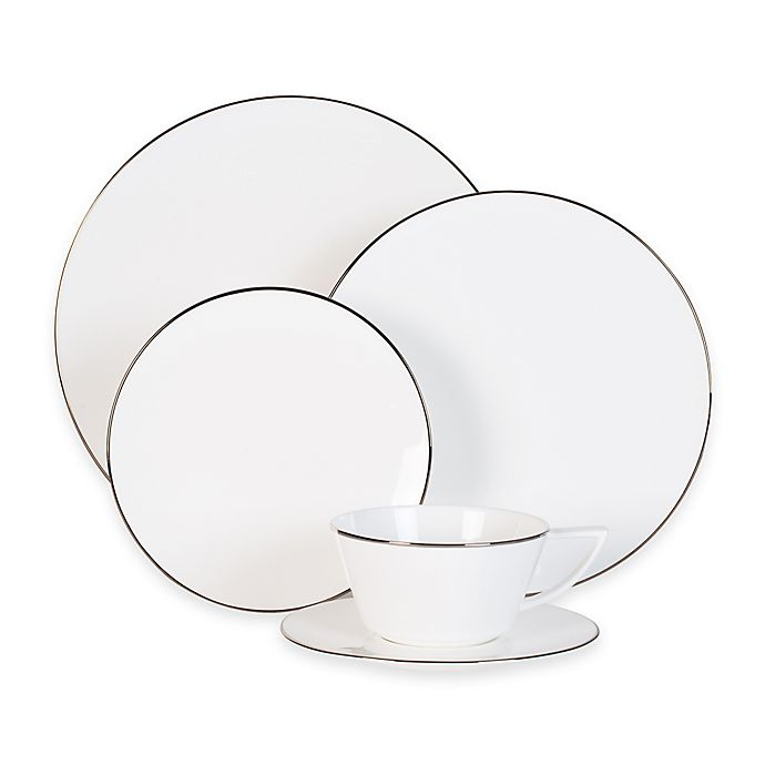 Alternate image 1 for Olivia & Oliver Madison Platinum Dinnerware Collection