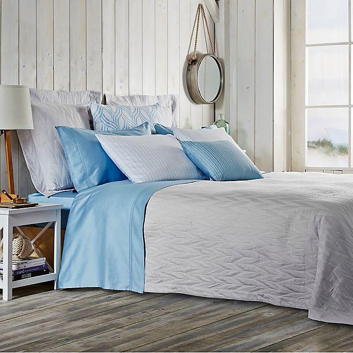 Alternate image 1 for Frette At Home Porto Venere Fashion Standard Pillow Sham in Pearl Grey