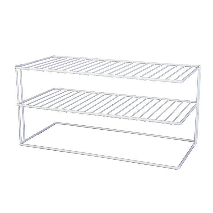Alternate image 1 for Large 2-Shelf Cabinet Organizer
