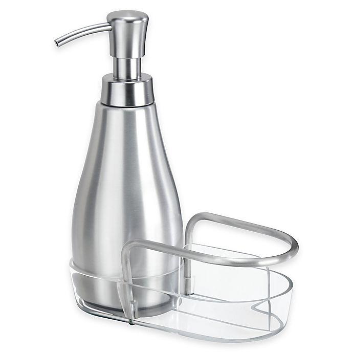 Alternate image 1 for iDesign® Metro Aluminum Soap Dispenser