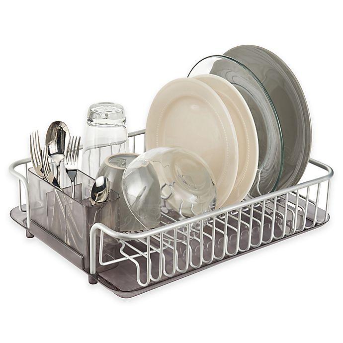 Bed Bath And Beyond Dish Rack.Idesign Metro Rustproof Aluminum Dishrack And Drainboard
