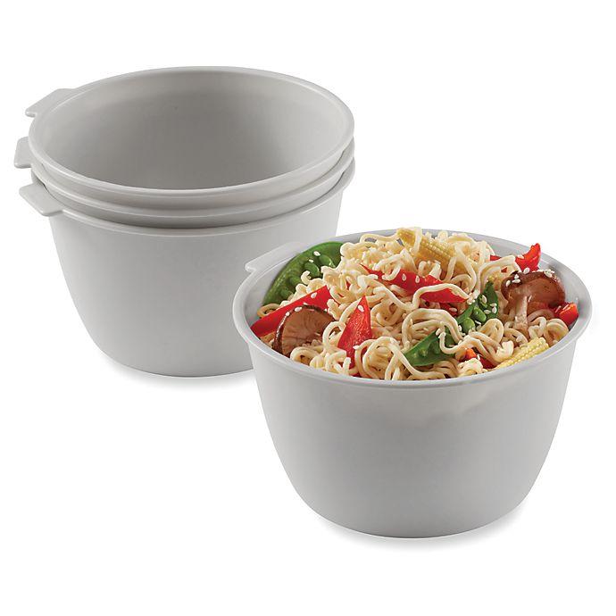 Alternate image 1 for SALT™ Stackable Microwave Bowls (Set of 4)