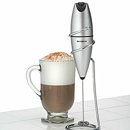 BonJour Stainless Steel Oval Frother with Stand