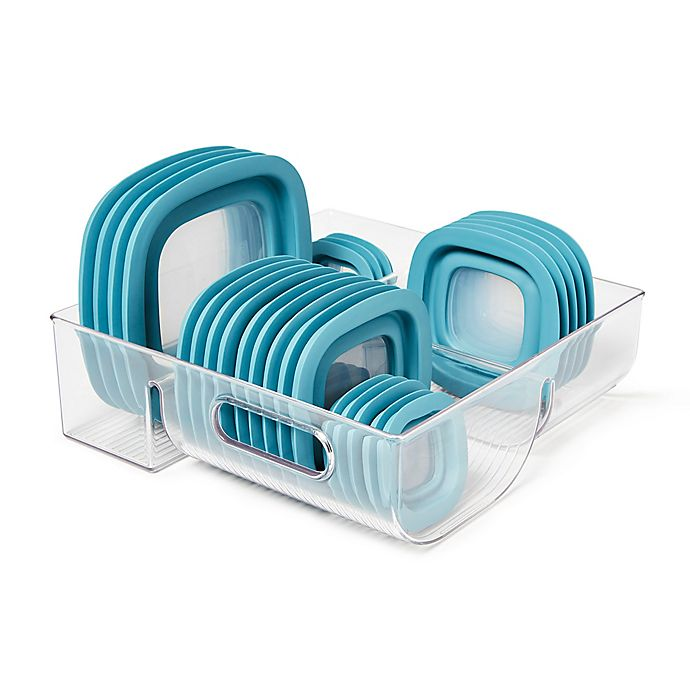 Alternate image 1 for iDesign® Cabinet Binz™ 3 Compartment Lid Organizer