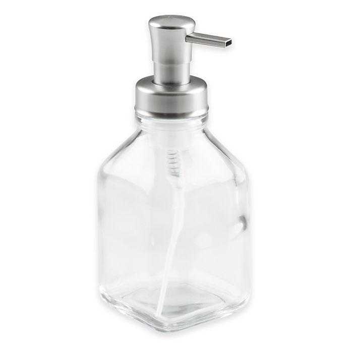 Alternate image 1 for InterDesign® Cora Glass Foaming Soap Dispenser Pump