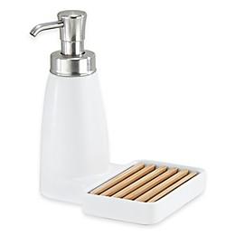 InterDesign® Benton Ceramic Soap Dispenser Pump and Sponge Caddy