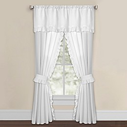 Smoothweave™ Eyelet Window Curtain Panels with Tie Backs and Valance