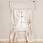 Smoothweave™ 63-Inch Eyelet Rod Pocket Window Curtain Panels with Tie Backs in Ivory