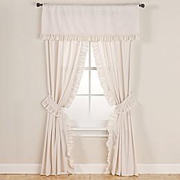 Smoothweave™ Eyelet Window Curtain Panels with Tie Backs and Valance