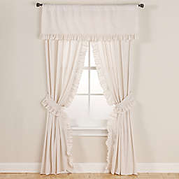Smoothweave™ 96-Inch Eyelet Rod Pocket Window Curtain Panels with Tie Backs in Ivory