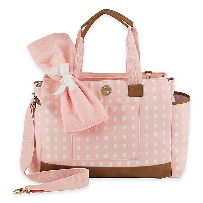 Mud Pie Ger Bundle Rosebud Diaper Bag In Pink