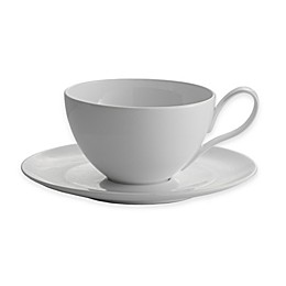 Nambe Skye Café Au Lait Cup and Saucer