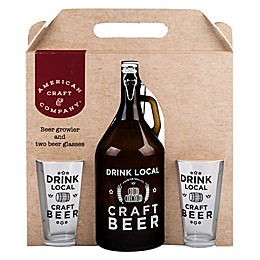 Home Essentials & Beyond American Craft 3-Piece Growler and Beer Glass Set