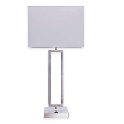 Fangio Lighting Modern Table Lamp in Brushed Nickel