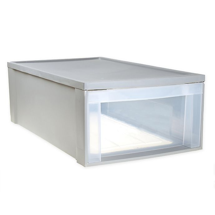 Alternate image 1 for Underbed Stacking Drawer in Grey