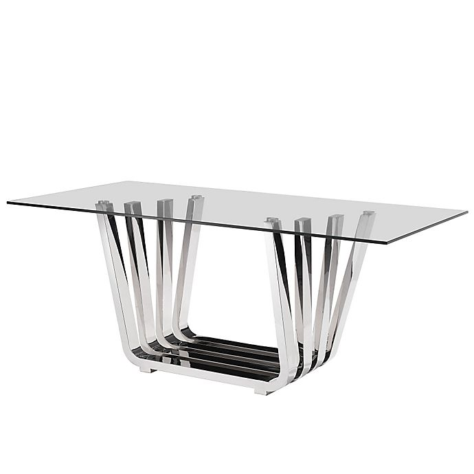 Alternate image 1 for Zuo® Fan Dining Table in Chrome