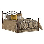 Hillsdale Milwaukee King Bed with Rails in Black/Cherry