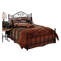Hillsdale Harrison Queen Bed without Rails in Black Metal