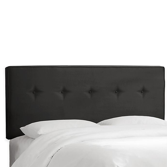 Alternate image 1 for Skyline Furniture Ashland Queen Headboard in Velvet Black