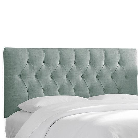 Alternate image 1 for Skyline Furniture Bishop Headboard with Linen Blend Upholstery