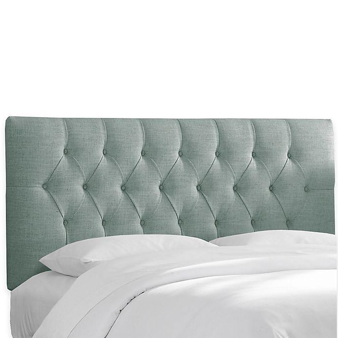 Alternate image 1 for Skyline Furniture Bishop Queen Headboard in Linen Seaglass