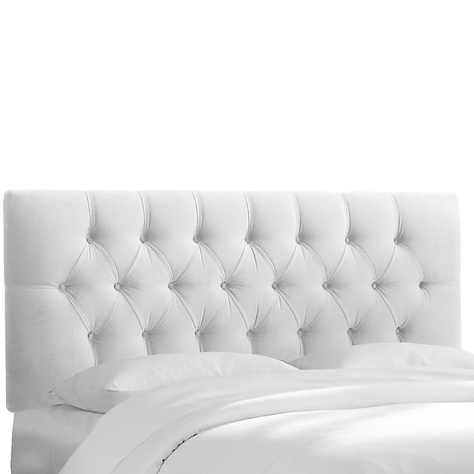 Alternate image 1 for Skyline Furniture Bishop Twin Headboard in Velvet White