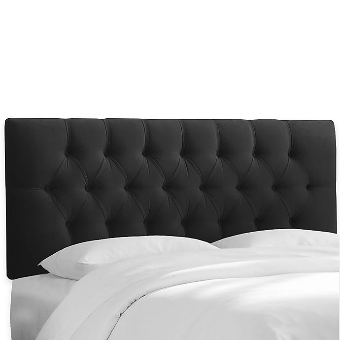 Alternate image 1 for Skyline Furniture Bishop Full Headboard in Premier Black