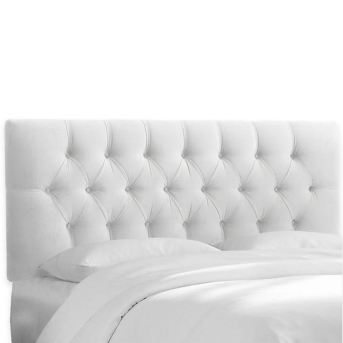 Alternate image 1 for Skyline Furniture Bishop Queen Headboard in Premier White
