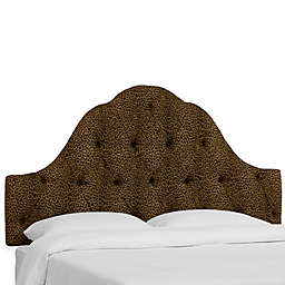 Skyline Furniture Dearborn Queen Headboard in Cheetah Earth