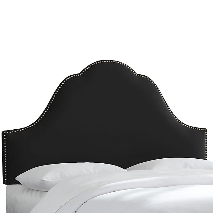 Alternate image 1 for Skyline Furniture Congress Queen Headboard in Velvet Black