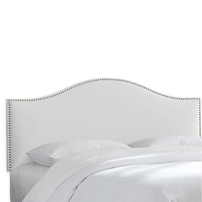Alternate image 1 for Skyline Furniture Hinsdale Full Headboard in Velvet White