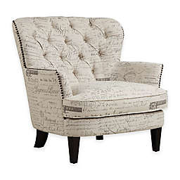 Pulaski Paris Script Arm Chair in Beige