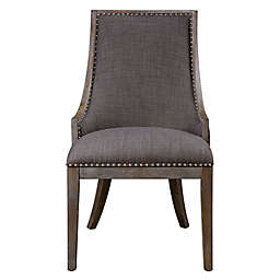 Uttermost Aidrian Accent Chair in Charcoal Grey