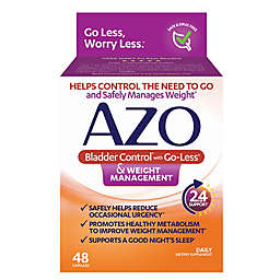 AZO 48-Count Bladder Control with Go-Less® & Weight Management