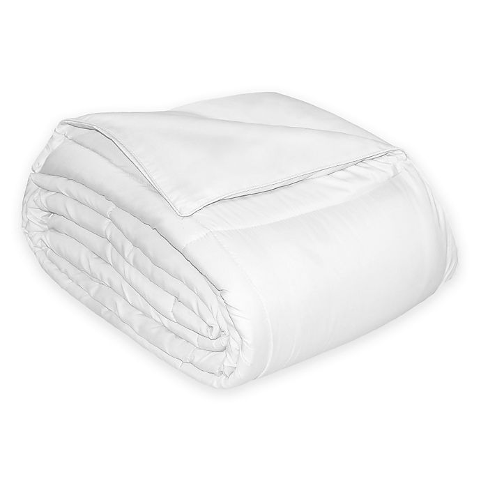 Alternate image 1 for 700-Thread-Count Reversible Cotton Sateen King Down Alternative Comforter in White