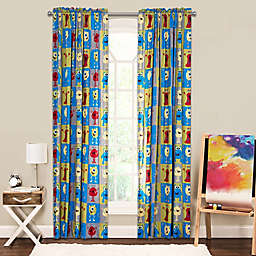 Crayola® Monster Friends 84-Inch Window Curtain Panel in Blue/Green