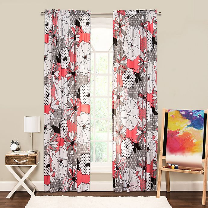 Alternate image 1 for Crayola® Flower Patch 84-Inch Rod Pocket Window Curtain Panel
