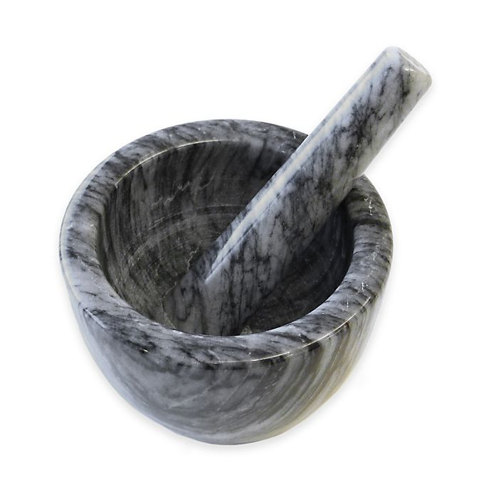 Alternate image 1 for RSVP Marble Mortar and Pestle in Grey
