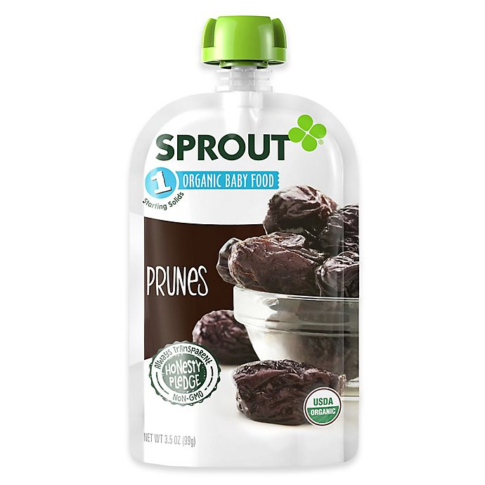 Alternate image 1 for Sprout® 3.5 oz. Stage 1 Prunes Organic Baby Food