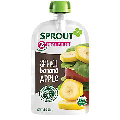 Sprout® 3.5 oz. Stage 2 Spinach Banana Apple Organic Baby Food