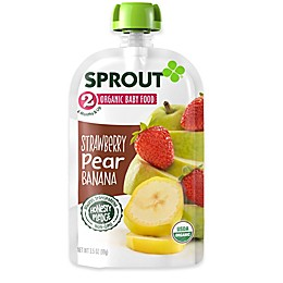 Sprout® 3.5 oz. Stage 2 Strawberry Pear Banana Organic Baby Food