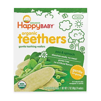 Happy Baby™ Gentle Teethers 12-Packs of 2 Pea & Spinach Organic Teething Wafers