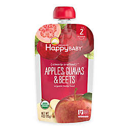 Happy Baby™ Clearly Crafted Stage 2 Organic 4 oz. Apples, Guavas, and Beets