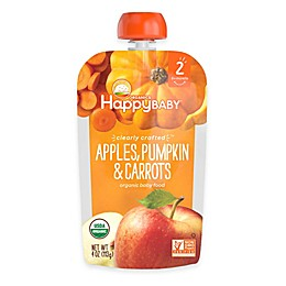 Happy Baby™ Clearly Crafted Stage 2 Organic 4 oz. Apples, Pumpkin, and Carrots