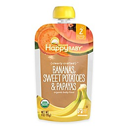 Happy Baby™ Clearly Crafted Stage 2 Organic 4 oz. Bananas, Sweet Potatoes, and Papayas
